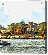Sailing On The Nile Acrylic Print