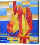 Sailing On The Seven Seas So Blue Acrylic Print by Tracey Harrington-Simpson