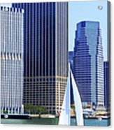 Sailing Past The Skyscrapers Acrylic Print