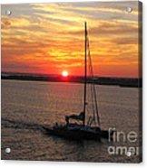 Sailing Past The Sunset Acrylic Print