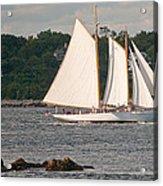 Sailing Portland Acrylic Print