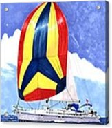 Sailing Primary Colores Spinnaker Acrylic Print