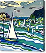 Sailing School Manchester by-the-sea Acrylic Print