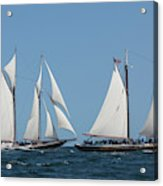 Sailing Ship In The Ocean At Gloucester Acrylic Print