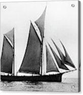 Sailing Ship Ketch, 1876 Acrylic Print