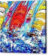 Sailing Ships In The Wind Acrylic Print