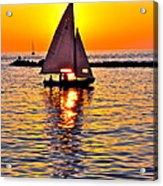 Sailing Silhouette Acrylic Print