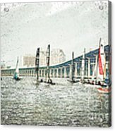 Sailing Sketch Photo Acrylic Print