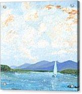 Sailing The Lake 2 Acrylic Print