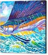 Sailing The Sunset  Acrylic Print