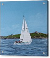 Sailing Through Dalkey Sound Acrylic Print