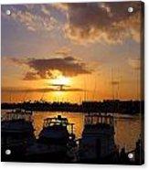 Sailing To Sunset Acrylic Print