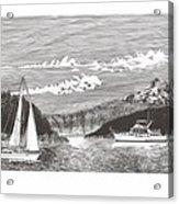 Sailing Mount Hood Oregon Acrylic Print