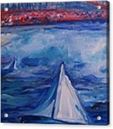 Sailing Under The Golden Gate Acrylic Print