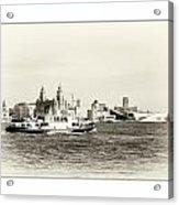 Sailing Up The Mersey Acrylic Print