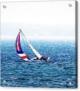 Sailing Vinyard Sound  Photo Art Acrylic Print