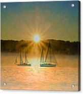 Sailing When The Sun Comes Up Acrylic Print