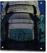 Sailors And Soldiers Monument By Night Acrylic Print by Stephen Melcher
