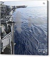 Sailors Fire A 25mm Machine Gun Aboard Acrylic Print