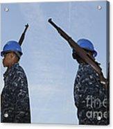 Sailors Practice A Routine Aboard Uss Acrylic Print