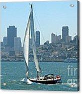Sailors View Of San Francisco Skyline Acrylic Print