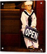 Sailors Welcome Cropped Acrylic Print