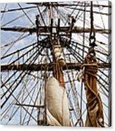 Sails Aboard The Hms Bounty Acrylic Print