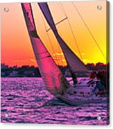 Sails At Dusk Acrylic Print
