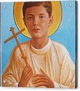 Saint Alexei Oil Icon On Wood. Tsarevich  Passion-bearer Acrylic Print
