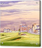 Saint Andrews Golf Course Scotland - 17th Green Acrylic Print