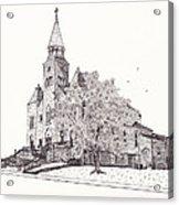Saint Bridget Church Acrylic Print by Michelle Welles