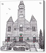 Saint Bridget's Church At Christmas Acrylic Print by Michelle Welles