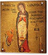 Saint Catherine Of Alexandria Altar Acrylic Print