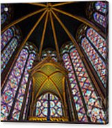 Saint Chapelle Windows Acrylic Print