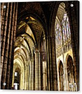 Saint Denis Cathedral Acrylic Print by Olivier Le Queinec