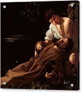 Saint Francis Of Assisi In Ecstasy 2 Acrylic Print by Caravaggio