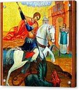 Saint George Acrylic Print by Munir Alawi