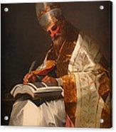 Saint Gregory The Pope Acrylic Print
