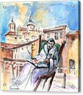 Saint John Of The Cross In Salamanca Acrylic Print