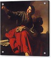 Saint John The Evangelist At Patmos Acrylic Print