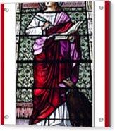 Saint John The Evangelist Stained Glass Window Acrylic Print