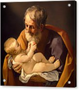 Saint Joseph And The Christ Child Acrylic Print