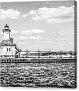 Saint Joseph Lighthouse Retro Panoramic Photo Acrylic Print