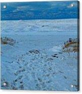 Saint Joseph Michigan Beach In Winter Acrylic Print