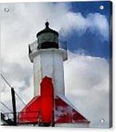 Saint Joseph Michigan Lighthouse Acrylic Print by Dan Sproul