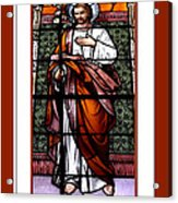 Saint Joseph  Stained Glass Window Acrylic Print by Rose Santuci-Sofranko