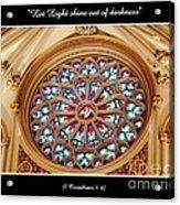 Saint Josephs Cathedral Stained Glass Window Buffalo New York Acrylic Print