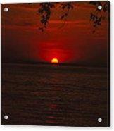 Saint Lawrence River Sunset Iv Acrylic Print