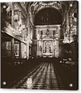 Saint Louis Cathedral New Orleans Black And White Acrylic Print