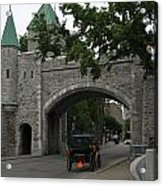 Saint Louis Gate In Ramparts Of Quebec City Acrylic Print